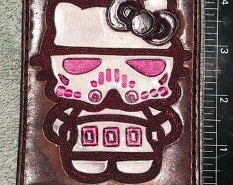 Hello kitty Star Wars stormtrooper leather patch