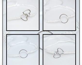 Macrame white bracelet Bridal jewelry bridesmaid jewelry silky gloss ultra easy macrame bracelet white bride jewelery