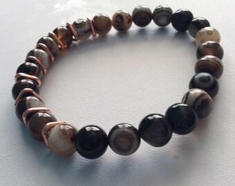 Botswana AGATE stretchy bracelet
