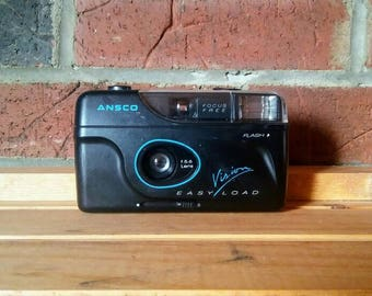Ansco Vision Easy Load 35mm Compact Point and Shoot Film Camera