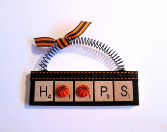 Basketball Hoops Scrabble Tile Ornament