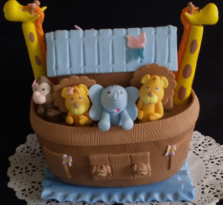 Noah's Ark Cake Topper Noah's Ark Birthday Noahs Ark