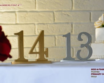 Wedding Table Numbers, Gold Table Numbers, Table Numbers, Table Numbers Wedding