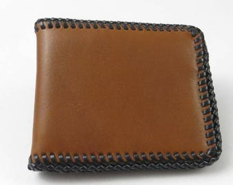 Hand Crafted Genuine Leather Billfold, Vintage Leather Wallet, Western Style Billfold