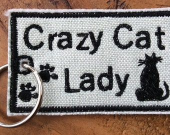 Crazy Cat Lady keyring, perfect gift for someone who is crazy about cats!