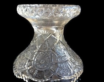 EOPG - Early American Pattern Glass - Imperial - Broken Arches Pattern - Clear Glass - Punch Bowl Base - Punch Bowl Stand - Replacement