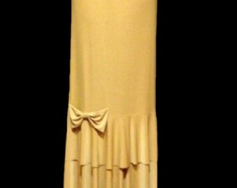 "The Solid ""Remi"" Maxi Skirt  (Double flounce bow skirt) several solid  colors to choose from"