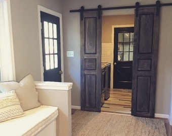Raised Panel Interior Sliding   Hinged Pantry   BiFold Doors by Rustic Luxe