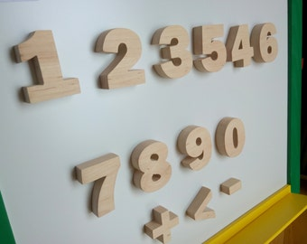 Set of magnetic numbers _ wooden numbers for learning _ Learning toy _ Mathematics set_ Mathematical symbols more,less_pre-school learning