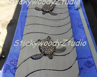 "sea turtle art, sea turtle wall art, sea turtle decor, sea turtle headboard, wood wall art, 18"" x 24"", 18"" x 48"" & CUSTOM sizes also!"