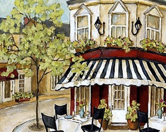 Corner Cafe 2 - Counted cross stitch pattern in PDF format