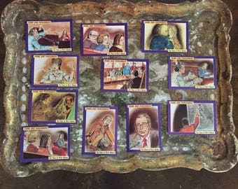 1992 Crime & Punishment trading cards ABC- TV producer Bruce Carroll's rare complete SLA Patty Hearst courtroom sketch
