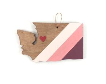Washington State Heart Ornament