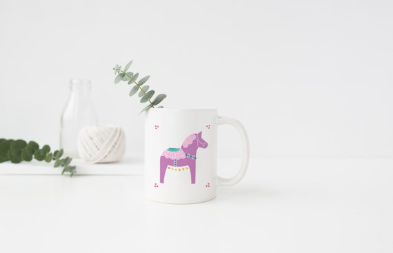 Purple Dala Horse Mug