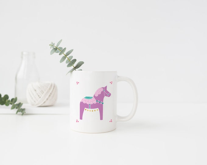 Purple Dala Horse Mug