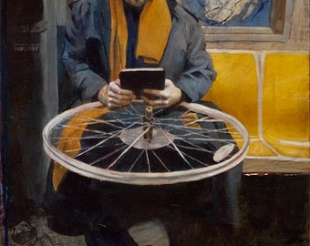 Innovation, an original oil painting