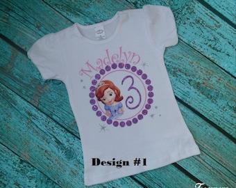 Sofia the First Birthday Shirt