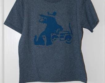 blue/blue rat w/boom box t