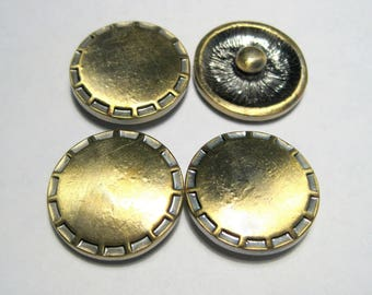 "20mm Antique Bronze Round Snap Buttons Charms Knob Size: 5.5mm( 2/8"")"