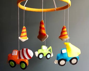baby boy mobile, baby shower gift, crib mobile, boy mobile, nursery mobile, felt mobile, new baby gift, hanging mobile