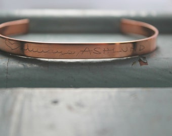 Custom Handwriting Jewelry | Custom Note Bracelet | Handwriting Jewelry | Signature Jewelry