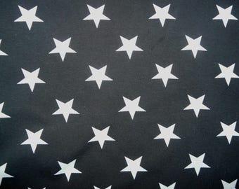 Fabric - Jersey fabric - Charcoal star print knit - Cotton/elastane
