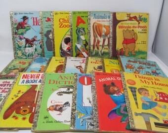 Vintage Little Golden Book Lot of 17 books
