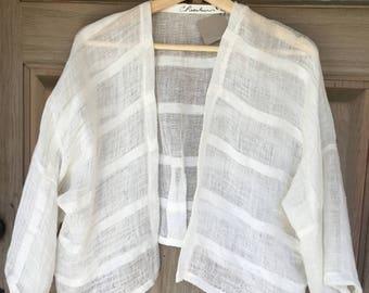 Linen Bolero Jacket