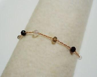 494. Mini Stone Braclet,Beads Bracelet,multi color stone Bracelet,mini stone ball Jewelry,gift for her,gift for friends- Choose your length