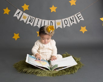 Where the Wild Things Are First Birthday Banner, A Wild One Banner, Wild One First Birthday, Wild One Bunting, First Birthday Decor