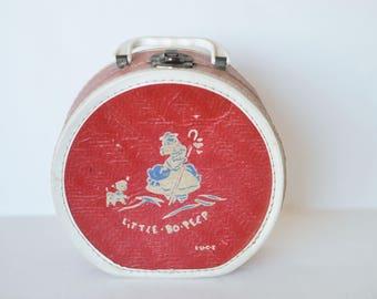 1950s Little Bo Peep Childrens Travel Case Luce