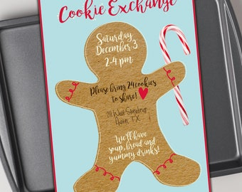 Cookie exchange invitation, printable, cookie swap, baking party, christmas cookie, cookie decorating party, christmas, holiday