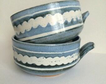 Ceramic Soup Mugs Set of 2