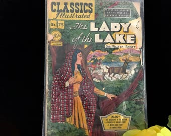 "Comic book ""The Lady of the Lake"" by Sir Walter, 1st Printing 1950"