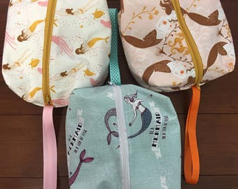 Mermaids Travel / Toiletries bags great the your child or the kid in you 3x7x8 inches