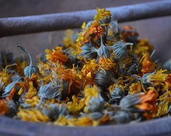 ORGANIC CALENDULA herb • Calendula officinalis • Dried • Flower • Asteraceae • Non-irradiated • Non-gmo Herbs • Whole Herb • USA Grown • 1oz