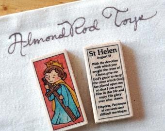 St Helen Patron Saint Block