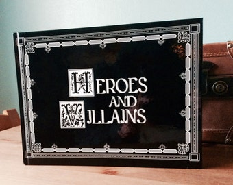 Heroes and Villians Once Upon A Time Storybook! Featuring Stories and Pictures! Hook, Cruellla and more...