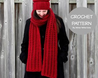 Crochet scarf pattern- long crochet scarf, PDF Instant Download Crochet Pattern, crochet scarves, scarf, NOT a finished product, 0045