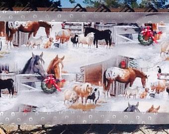 Western cowboy Christmas tablerunner