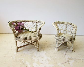 vintage doll wicker furniture white wicker furniture doll furniture doll chair doll
