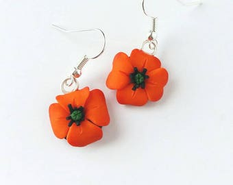 SALE Orange Poppies