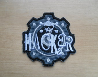 Hacker patch / Iron on Patch / applique/ Hacker Skull Patch!