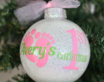 1st Christmas Ornament Baby Girl