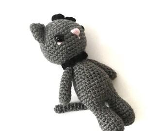 Amigurumi Cat Doll : Sale plush cat amigurumi cat doll crochet cat doll stuffed toy