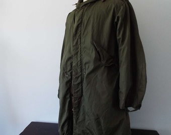 Vintage Original 1951 Fishtail Parka With Liner American Army Issue Korean War Mod Scooter Skinhead