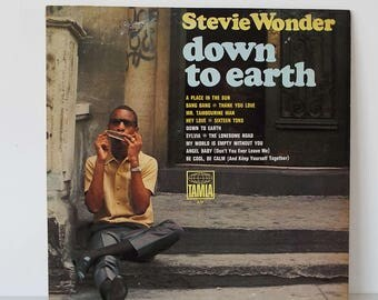 Vintage 1966 Stevie Wonder Down To Earth LP Vinyl Record Tamla Motown US Pressing
