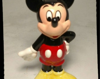 Collectible Mickey Mouse Figurine / Disney Knick Knack / Disneyana / Mouse Figurine / Cake Topper / Best Gift Idea / F1395