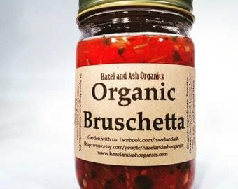 Organic Bruschetta by Hazel and Ash Organics. Gluten Free, Vegan,