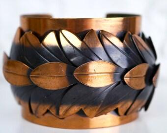 Rebajes Copper Cuff Bracelet Leaves